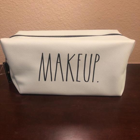 Rae Dunn blue MAKEUP cosmetic bag